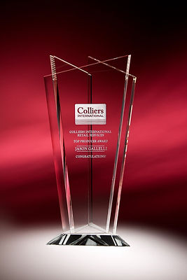 Engraved Crystal Corporate Award