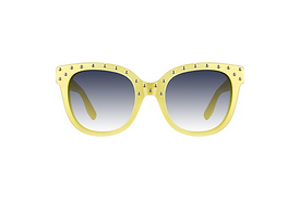 Fun Cat-Eye Sunglasses with  Silver-studded Top Rim detail