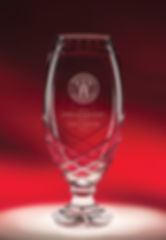 Engraved Crystal Cup Award