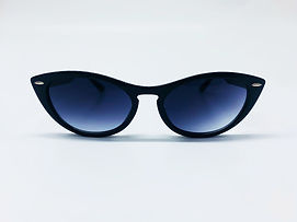 Retro Black Small Classic Cat Eye Sunglasses