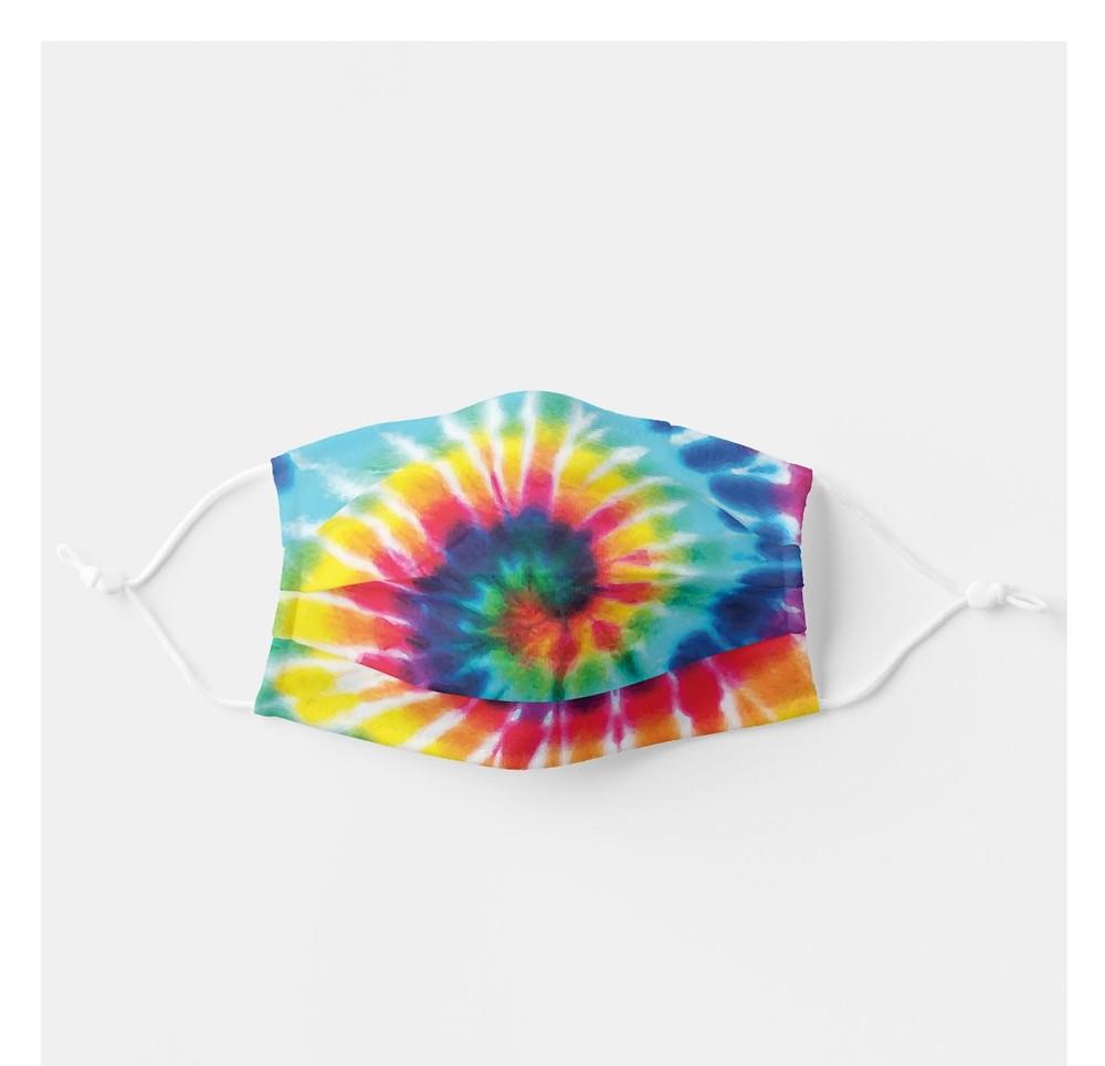 Swirl Pattern Tie-Dye Face Mask