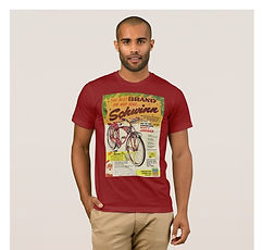 T-Shirt with Schwinn bicycle ad for Mark II Jaguar