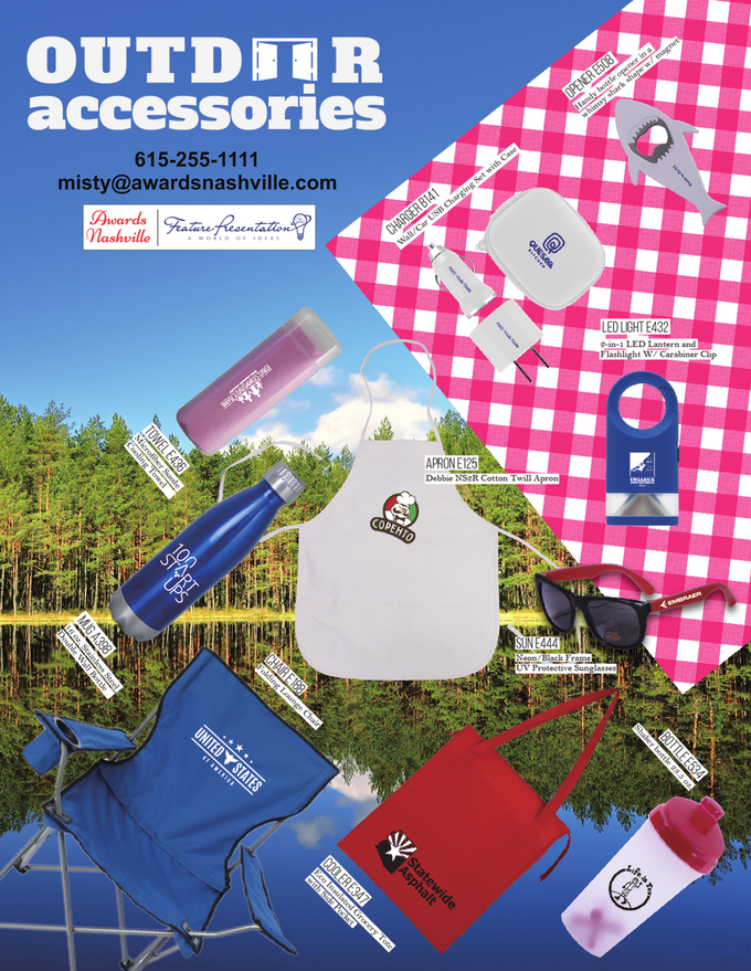 Outdoor Accessories Promotional Product Flier