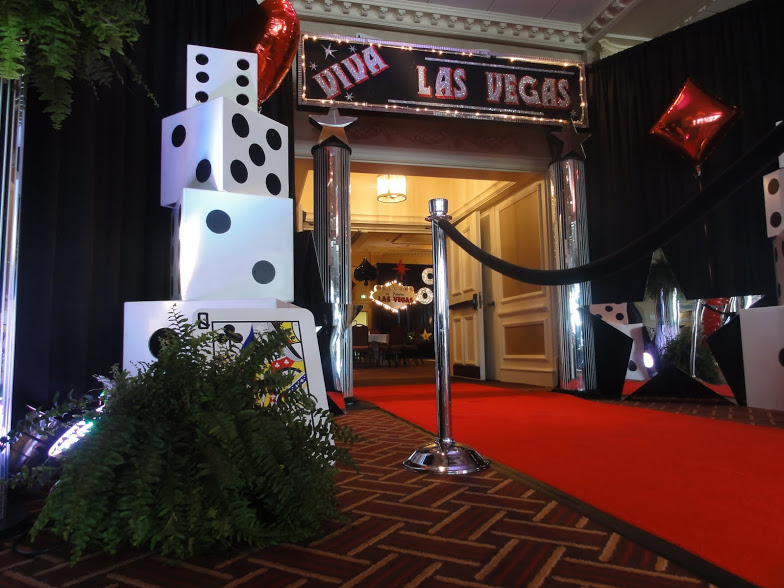Casino Party Themed Entrance Decor
