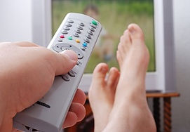 Remote control with feet up