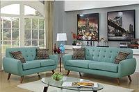 Retro Sofa and Loveseat
