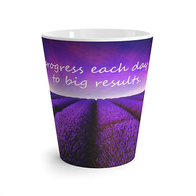Latte mug (Lavender Fields)