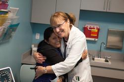 Nurse Navigator caring for patient