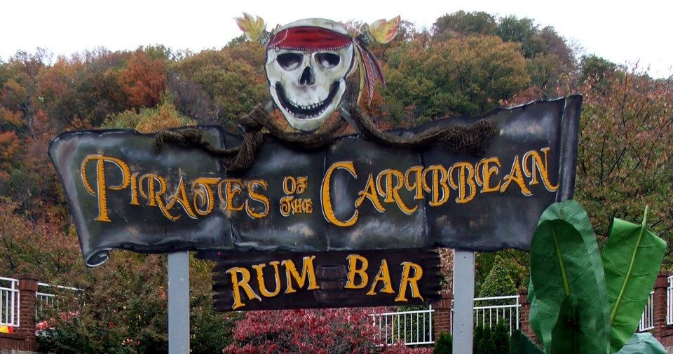 Pirates of the Caribbean Rum Bar Sign