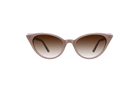 1950s Glamour Classic Cat-Eye Sunglasses in Mauve or Cappuccino.