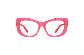 Candy Pink Wide Frame Cat Eye Sunglasses