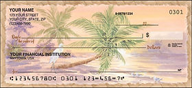 Palm Trees Tropical Design Checks and Checkbook Covers