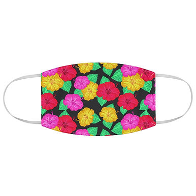 Fabric Face Mask (Tropical Flowers 109)