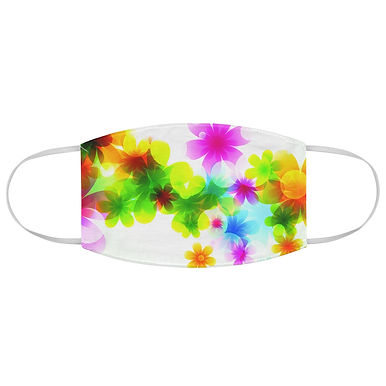 Fabric Face Mask (Colorful Flowers 129)