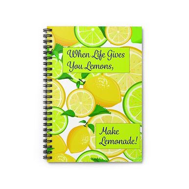 Spiral Notebook - Ruled Line (Make Lemonade)