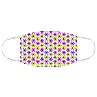 Fabric Face Mask (Retro - Purple and Green Flowers 126)