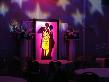 20's Themed Event Decor with Lighting Ef
