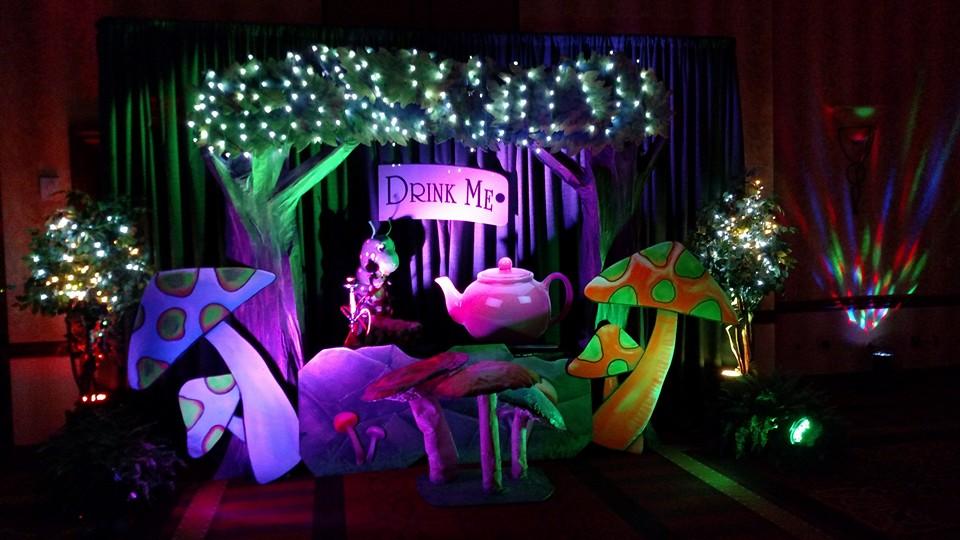 A Walk Through Wonderland Themed Event Room Decor