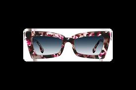 Square Cateye Sunglasses with Smoke Gray Gradient Tint