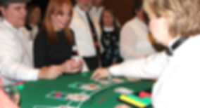 Casino Party Nashville guests play Blackjack at a Corporate Casino Night Event.