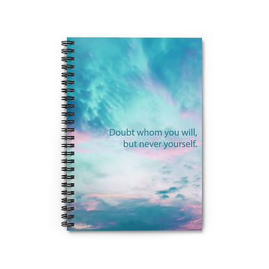 Spiral Notebook - Ruled Line (Clouds)