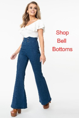 Ladies High waisted Bell Bottom Jeans