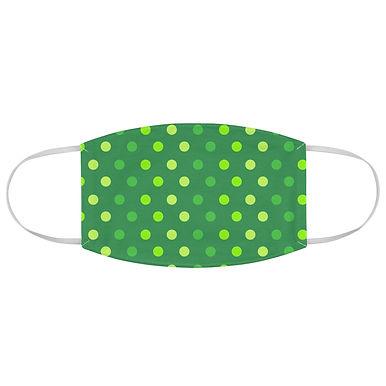 Fabric Face Mask (Green Polka Dot 110)