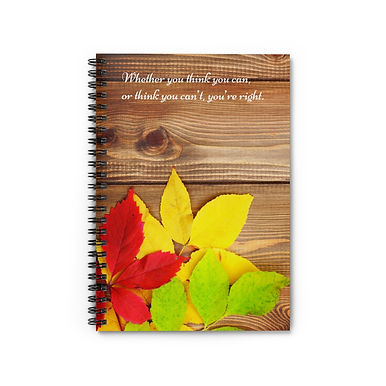 Spiral Notebook - Ruled Line (Fall Leaves)