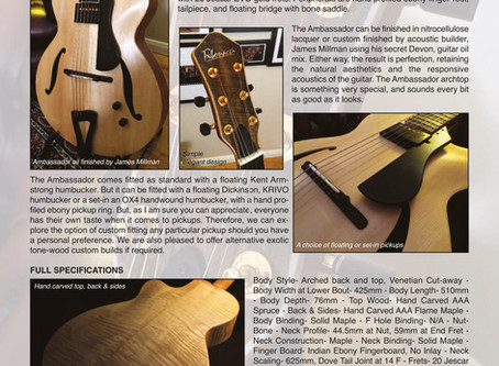 WELCOME TO FIBONACCI GUITARS AUGUST NEWSLETTER!