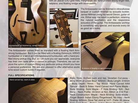 WELCOME TO FIBONACCI GUITARS AUGUST NEWSLETTER!