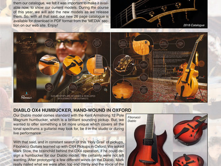 FIBONACCI GUITARS FEBRUARY 2018 NEWSLETTER!