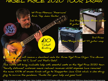 LAST CHANCE TO WIN A FIBONACCI 'AMERICANO' ARCHTOP JAZZ GUITAR IN THE 'NIGEL PRICE 202