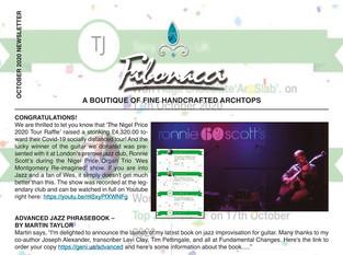 FIBONACCI GUITARS OCTOBER 2020 NEWSLETTER
