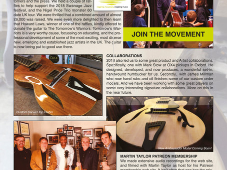 FIBONACCI GUITARS FEBRUARY 2019 NEWSLETTER!