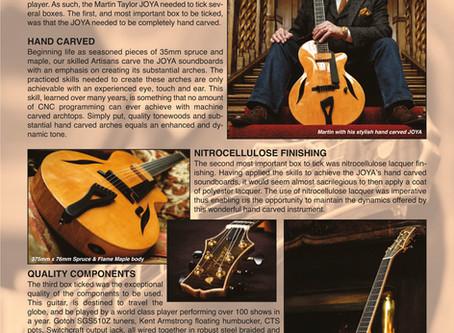 FIBONACCI GUITARS NOVEMBER NEWSLETTER - THE NEW MARTIN TAYLOR JOYA!