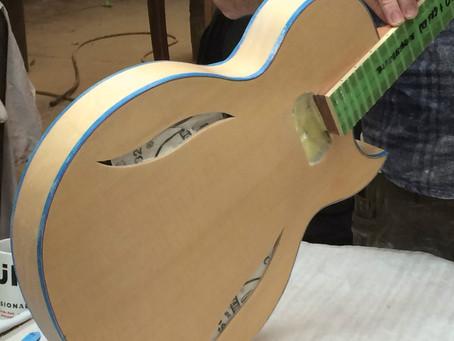 MASKING DAY ON DIABLO'S AT FIBONACCI GUITARS!