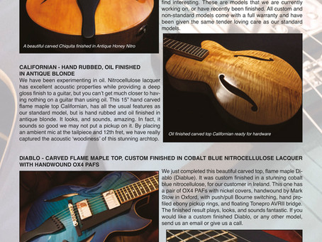 FIBONACCI GUITARS NOVEMBER NEWSLETTER