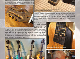 FIBONACCI GUITARS APRIL 2021 NEWSLETTER