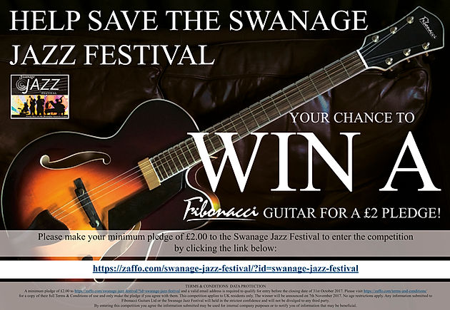 WIN A FIBONACCI GUITAR AND HELP SAVE THE SWANAGE JAZZ