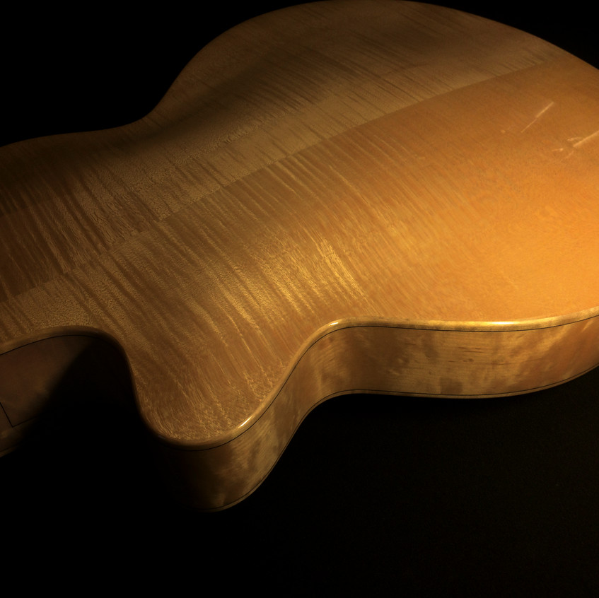 HAND CARVED FLAME MAPLE BACK & SIDE6