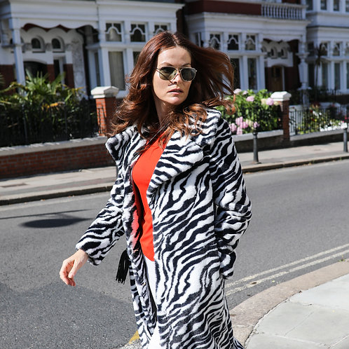 Long Zebra Coat