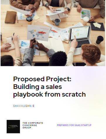 Building a sales playbook from scratch.p