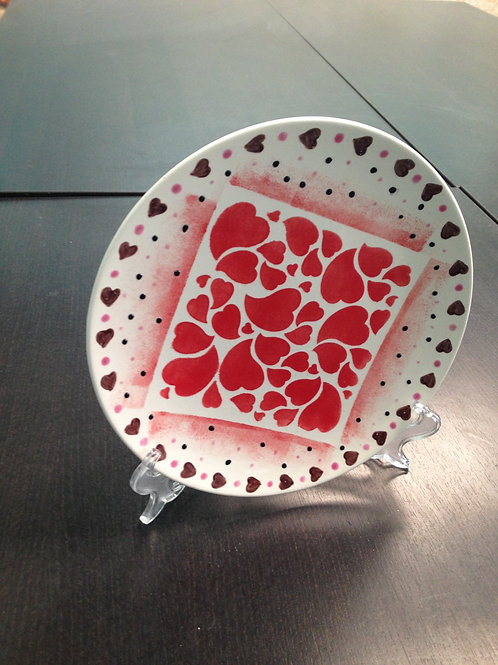 Hearts a Plus Plate