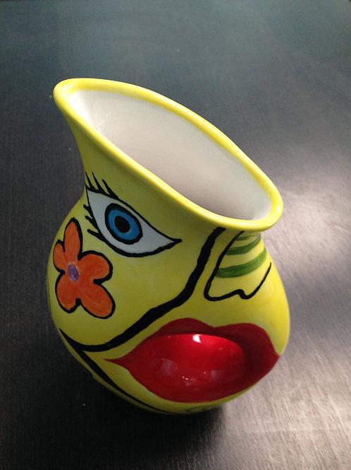 Yellow Expressionism Vase
