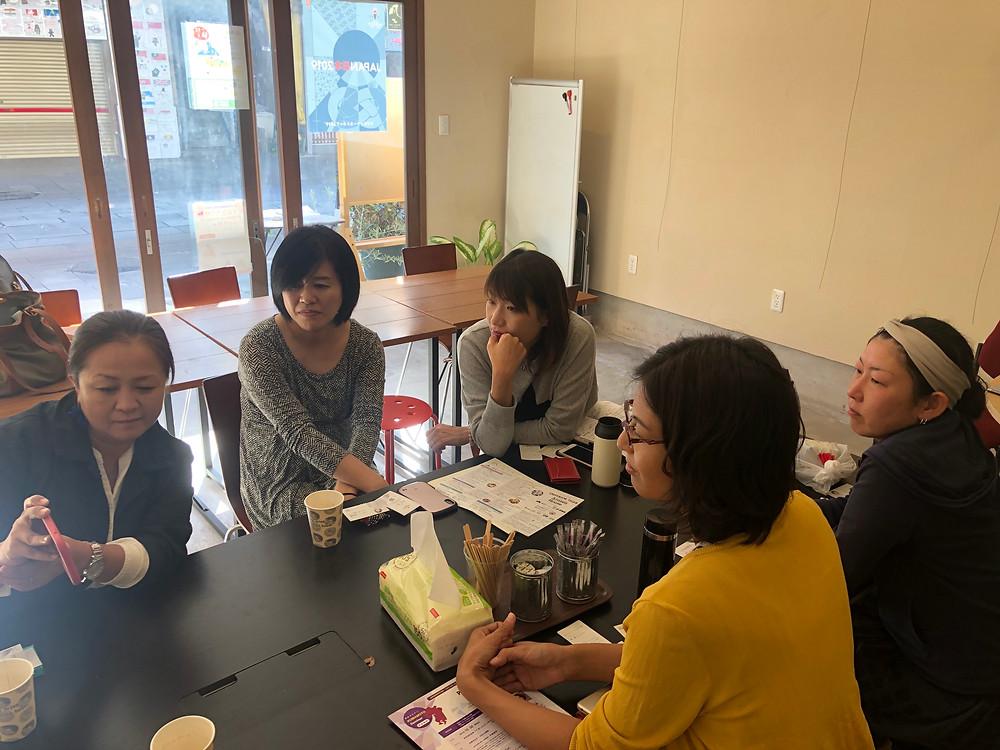 Co-museで開催した。創業ラーニングカフェ。女性起業家ネットワークiGCのメンバーと意見交換