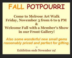 2017 November - Fall Potpourri