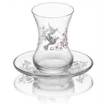 Set Tazas té diseño colibrí