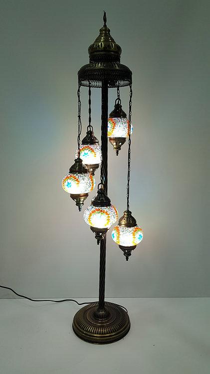 LAMPARA DE PIE 5 ESFERAS