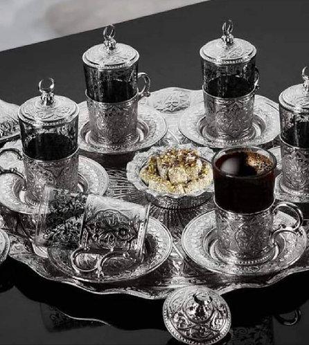 Set té o café Abi Hayat Plateado