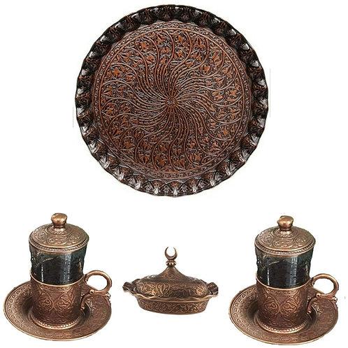 Set bandeja y tazas té o café